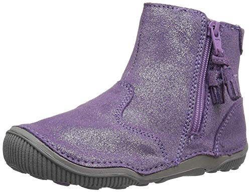 Stride Rite Girls' SRT Zoe Ankle Boot, Light Purple, 8.5 W US Toddler (Leather Girl Boots)