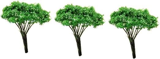 DierCosy - Mini árboles de paisaje paisajístico para arquitectos y árboles de jardín en miniatura, para manualidades,