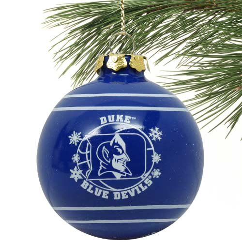 Duke Blue Devils 2011 Snowflake Glass Ball Ornament by Forever Collectibles