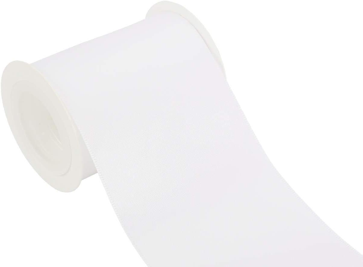 ITIsparkle Nastro Doppio Raso 75mm di Larghezza x 4.5m per Pacchetti Regalo Decorazione Cucire Feste Matrimoni Vanilla