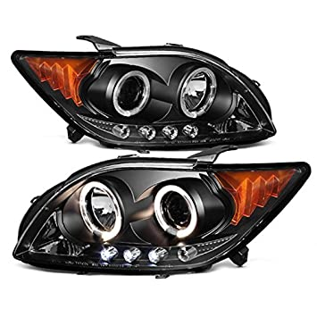 Scion Tc Headlights >> For Scion Tc Ant10 Black Bezel Dual Halo Projector Led Headlights Replacement Left Passenger Lamps Pair