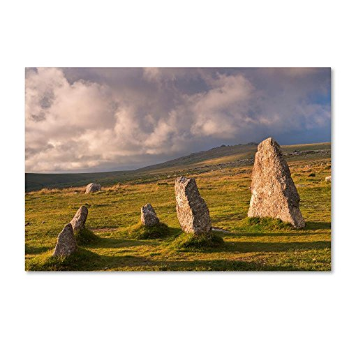 Merrivale Stones by Adam Burton, 12x19-Inch Canvas Wall Art