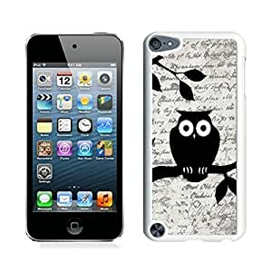 aqiloe diy Graceful Ipod Touch 5 Case Elegant Owl On Vintage Paper Soft TPU Silicone White Covers for Ipod 5th Generations