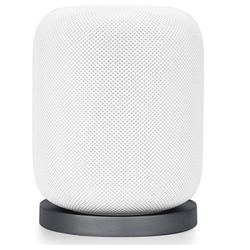 AIOZX Coaster for Homepod Shock Proof Stand Aluminum Anti Slip Pad for Apple Smart Speaker (Silver) by AIOZX