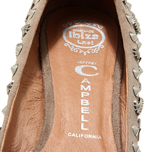 donna JEFFREY ballerina BORCHIE CAMPBELL Beige shoes STARS 78360 HALEY women scarpa 50ZgFqwqx