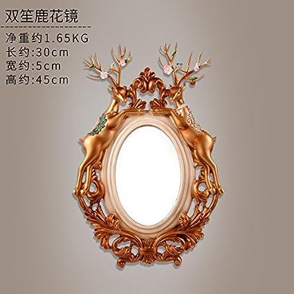 RPKSB&wc Decoración del hogar Espejo de Maquillaje para ...