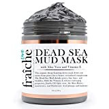 Facial Nerve Face - Live Fraiche Organic Dead Sea Mud Mask Facial & Body Cleanser- 8.8oz -Fight breakouts acne blackheads & Reduce Pores/Lines/Wrinkles - pure & natural to tighten & tone see clearer brighter younger skin