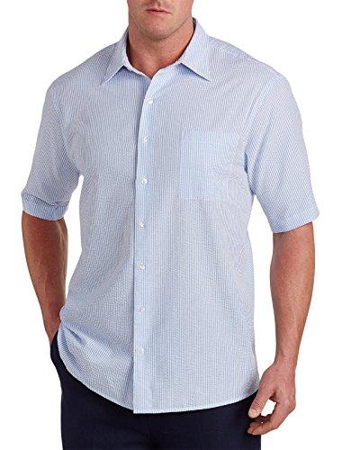 Harbor Bay Big & Tall Seersucker Stripe Sport Shirt, Ultramarine (Seersucker Big Shirt)