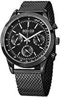 SO&CO York Men's 5006.3 Monticello Analog Display Japanese Quartz Silver Watch from SO&CO New York