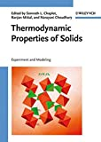 img - for Thermodynamic Properties of Solids: Experiment and Modeling book / textbook / text book