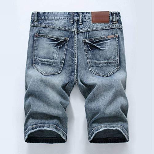Pantalones Cortos De Mezclilla De Verano Para Hombres Pantalones De Mezclilla Clásico Pantalones De Mezclilla Desgastados Look De Mezclilla Desgastado Pantalones Cortos De Mezclilla Jeansshort Chicos Graublau