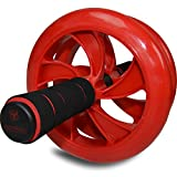 Ab Wheel Roller with Knee Mat - Premium Core Roller - Best Abs Training, Abdominal Workout, Core Fitness Training - Easy Assembly - Access to Exercise Video Included