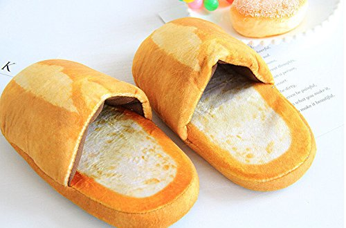 Veribuy Simulazione Creativa Pantofole Di Pane Baguette / Pane Francese / Caramello Pane Divertente Casa Scarpe Pantofole Baguette Francese