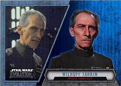 Imperial Commander - Grand Moff Tarkin trading card Star Wars Evolution 2016 Topps #62 Refractor Imperial Commander Peter Cushing