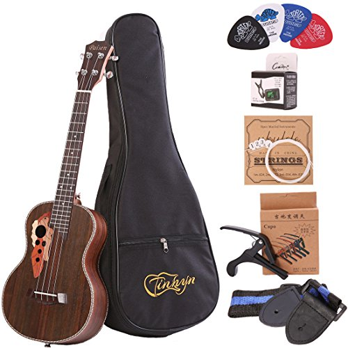 Tenor ukulele 26 inch professional rosewood ukulele send a full set of accessories by LHI