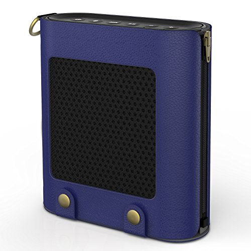 Price comparison product image MoKo Carrying Case for Bose SoundLink Color, Portable Speaker Cover PU Leather Protective Bag Sleeve Skins, with Holding Strap & Carabiner, Indigo