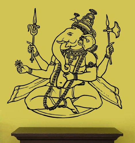 """Vinyl Wall Art Decal Sticker Ganesha Ganesh Ganesa 21""""x20"""""""