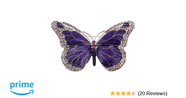 Wonderful Amazon.com: Purple Enamel Crystal Butterfly Pin Brooch: Brooches And Pins:  Jewelry