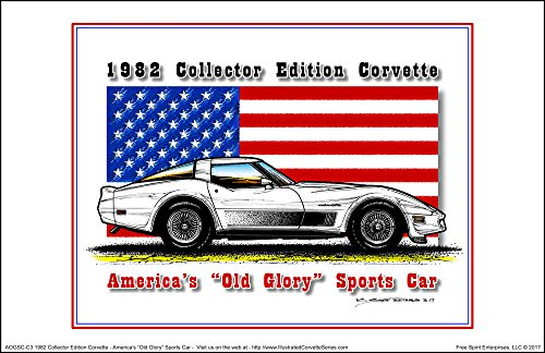 America's Old Glory 1982 Collector Edition Corvette - American Flag Art -