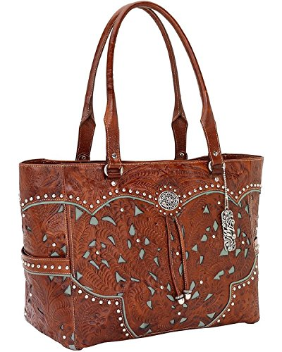 american-west-over-the-rainbow-zip-top-fashion-totedistressed-charcoal-brownone-size