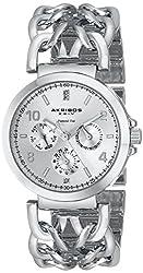 Akribos XXIV Women's AK746SS Lady Diamond Silver-Tone Watch with Link Bracelet