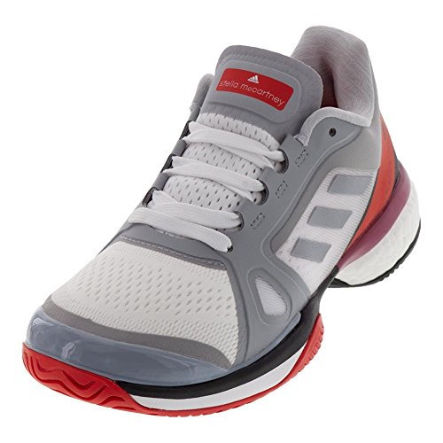 adidas aSMC Barricade Boost Shoe Women's Tennis 8.5 Mid Grey-Core Red