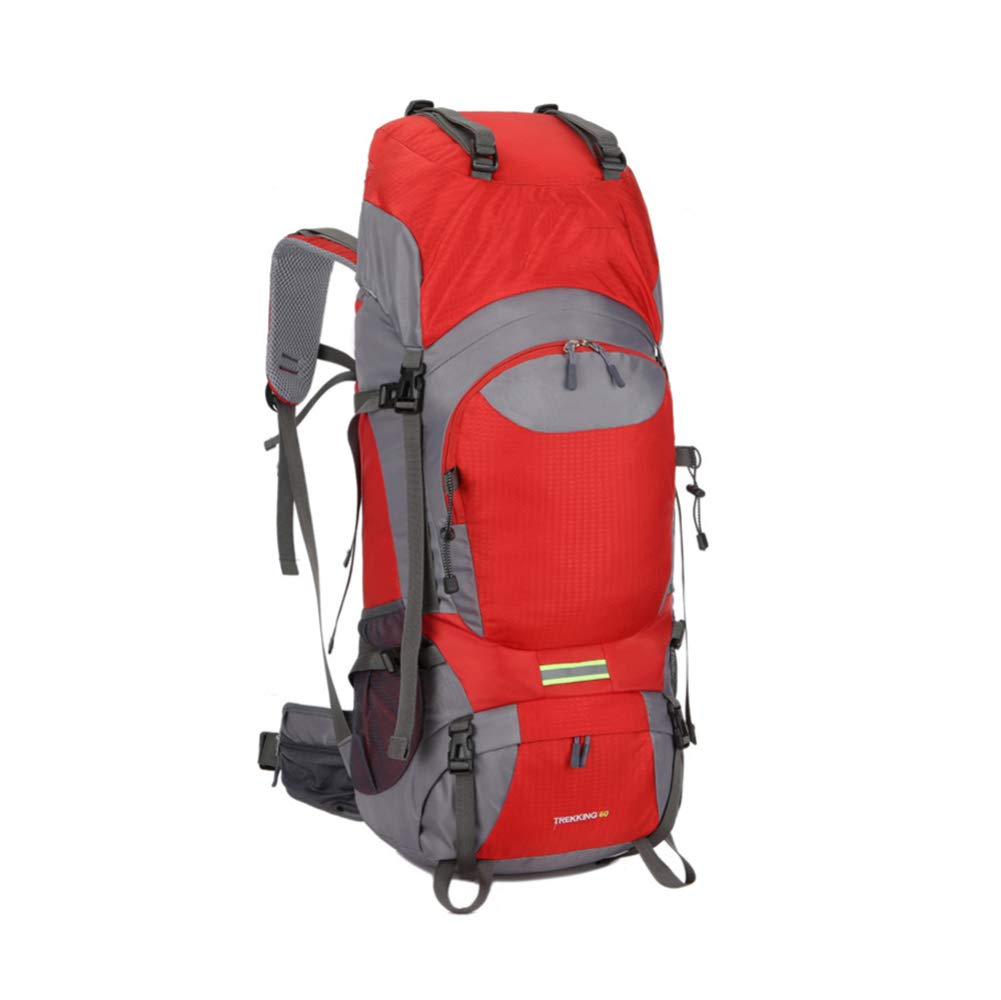 CXJC Reiserucksack 60L Wasser-resistent Multifunktions Nylon Der Großen Kapazität Kapazität Kapazität Trekking Reisen Camping Wandern Outdoor Erwachsene Trekkingrucksäck,rot B07MR82CPF Trekkingruckscke Rabatt 1b3c38