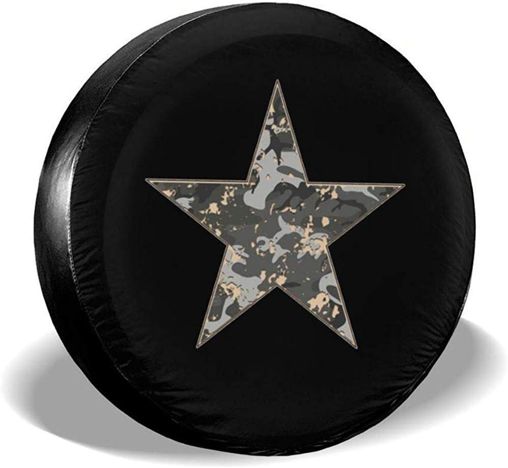 Kncsru Coperture Pneumatici per Fan dello Sport Coperchio Ruota di scorta Universale Star Mimetico