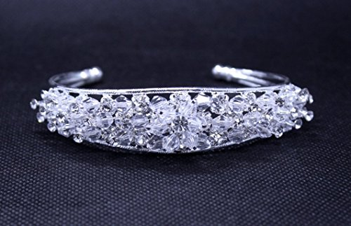 Exquisite Form Bridal Pageant Handmade Cuff Bangle use Sw...