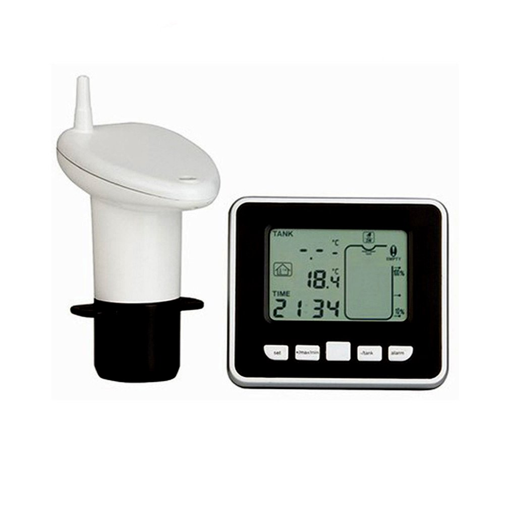 Lifesongs Jauge de niveau de jauge de niveau à ultrasons Indicateur de température de liquide à l'intérieur de la température