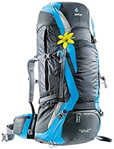 Deuter Futura Vario 55+10 SL - Height-Adjustable Hiking Backpack, Granite / Turquoise / Silver