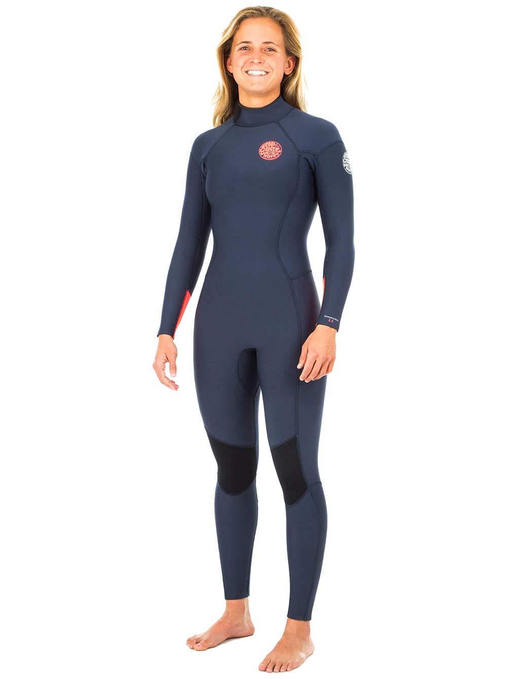 Navy UK 16 Reg Rip Curl Dawn Patrol 3 2mm 2019 Back Zip Wetsuit