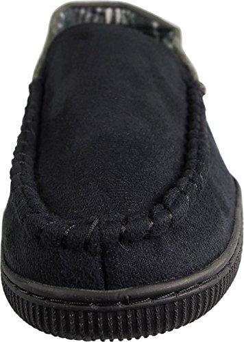 Perry Ellis Mens Twin-Stretch Slippers Black Moc 3 jpyvvG