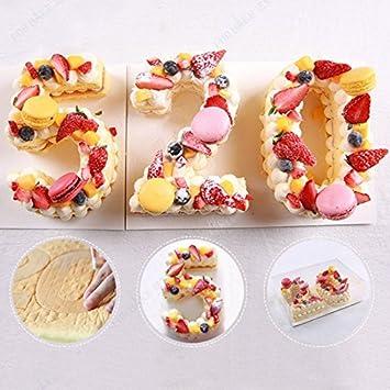 Molde para tartas Queta, creativo con número de PET, para decoración de tartas, para accesorios de cumpleaños, 15,2 cm 6inch: Amazon.es: Hogar