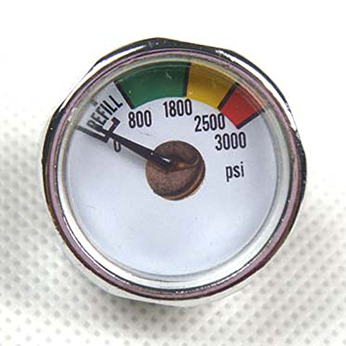 New 2x 3000 PSI Paintball Micro Gauge by GFSP Outdoor Sports