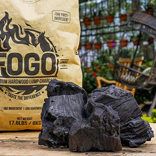 Fogo Premium Oak Restaurant All-Natural Hardwood Lump Charcoal for Grilling and Smoking (17 Pounds)