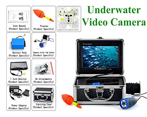 Underwater Fish Finder Anysun® Professional Fishing Video Camera with 7'' TFT Color LCD Hd Monitor 700tvl CCD 15M Cable Length with Carry Case, Fun to See Fish Biting by Anysun (Image #6)