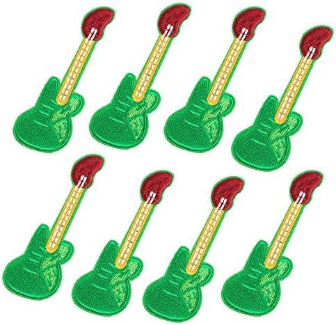 Xuuaiq - Juego de 10 Parches de Guitarra Hippie Verde para ...
