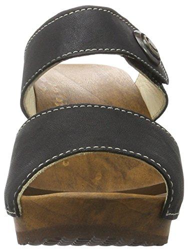 Woody Silke 14262/85 - Zuecos de cuero para mujer Negro (Schwarz (Dixan Negro))