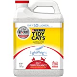 Purina Tidy Cats LightWeight 24/7 Performance for Multiple Cats Clumping Cat Litter - 8.5 Pound Jugs, 2 pack