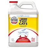 Purina Tidy Cats LightWeight 24/7 Performance for Multiple Cats Clumping Dust Free Cat Litter - (2) 8.5 lb. Jugs