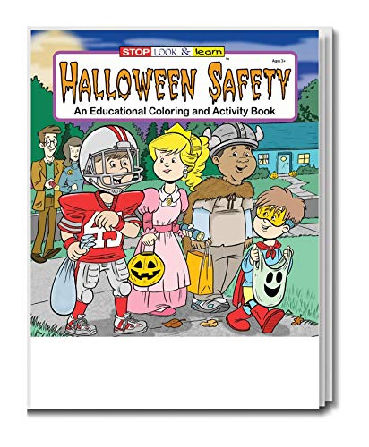 Halloween Safety - Kid's Educational Coloring & Activity Book in Bulk (25-Pack) -