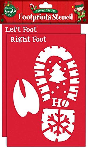 Papá Noel renos huellas plantillas Navidad Eve Kids niños, diversión Regalos