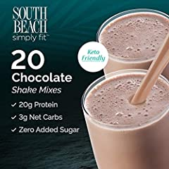 INCLUDES:       20 Chocolate Simply Fit Shake Packets (4, 5 count boxes)       Try this protein chocolate shake mix as a meal replacement or snack! This delicious shake powder mix will satisfy your sweet cravings. Packed with probioti...