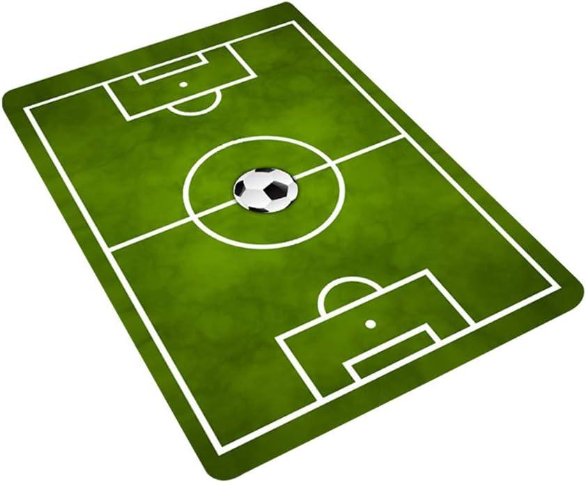 Football Mat,Anti Slip Kids Play Floor Carpet Soccer Pitch Football Field Doormats Home Nursery Bedroom Decoration