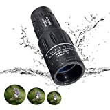 OUTERDO 10 Magnification 16x52 Dual Focus Monocular Telescope Camping Wildlife Hunting Surveillance Traveling Scope Waterproof Monocular Optics Zoom Bright