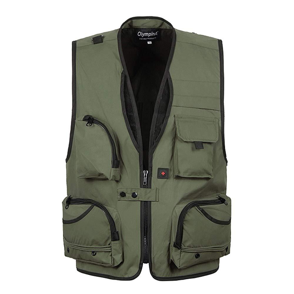 Multi-pocket Multi-function Gilet DAZISEN Mens Vest Coat