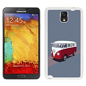 NEW Unique Custom Designed For Case Samsung Galaxy Note 2 N7100 Cover Phone Case With Volkswagen Type 2 Hippie Van Illustration_White Phone Case