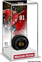 Marian Hossa Chicago Blackhawks Deluxe Tall Hockey Puck Case - Fanatics Authentic Certified - Hockey Puck Display Cases No Logo