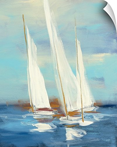 "Canvas on Demand Julia Purinton Wall Peel Wall Art Print entitled Summer Regatta III 16""x20"""